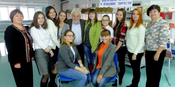 30 октября 2015 г. состоялась встреча с писателем, кинорежиссером, журналистом Алексеем Симоновым