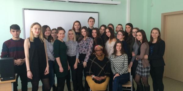 16 февраля 2018 г. состоялась встреча студентов 103 группы ФИЯ с преподавателем английского языка из Финляндии