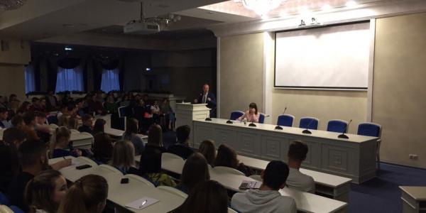 25 сентября 2017 г. ректор МГУ им. Н. П. Огарёва С. М. Вдовин ответил на вопросы студенческого актива